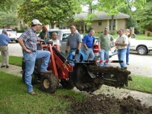 An Antelope Sprinkler Installation using our riding trencher